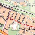 Lupīnu iela gājēju ceļš kartē